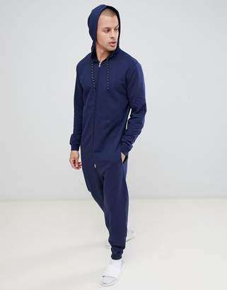 Asos DESIGN onesie in navy
