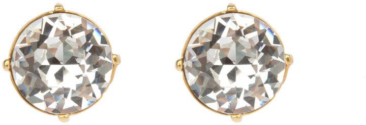 Kenneth Jay Lane Gold & Crystal Stud Earring