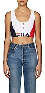 Fila Women's Hanna Logo Stretch-Cotton Crop Top - White