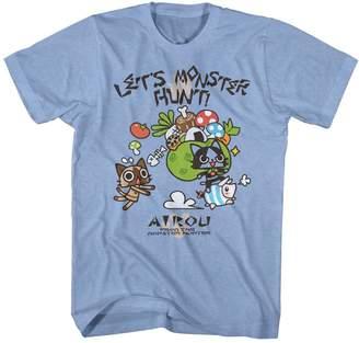 Hunter American Classics Monster Airou Let's Hunt Capcom Video Game Cartoon Adult T-Shirt