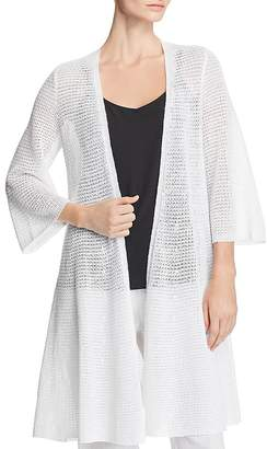 Eileen Fisher Long-Line Organic Linen Cardigan
