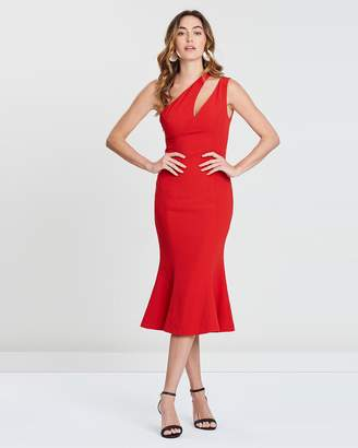 Freya Cut-Out Bodice Flounce Dress
