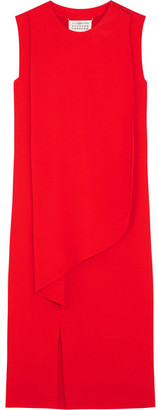 Maison Margiela - Draped Crepe Dress - Red $1,495 thestylecure.com