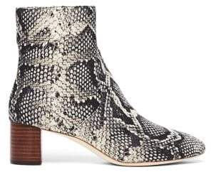 Loeffler Randall Gema Snakeskin Embossed Leather Booties