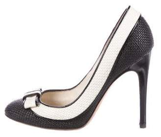 DSQUARED2 Woven Round-Toe Pumps