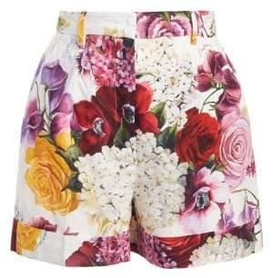 Dolce & Gabbana Poplin Floral Shorts