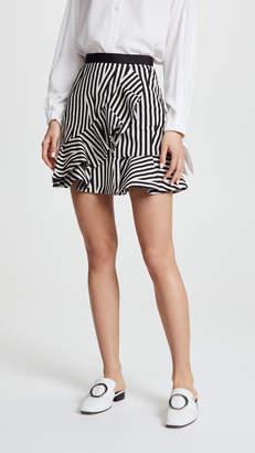 Self-Portrait Self Portrait Abstract Stripe Ruffle Skirt