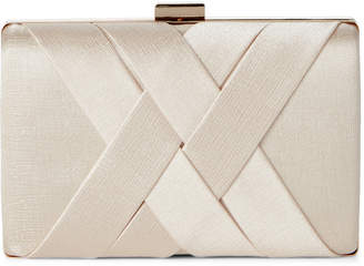 La Regale Champagne Criss Cross Clutch