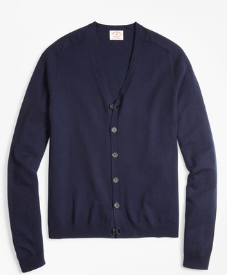 Brooks Brothers Merino Wool V-Neck Cardigan