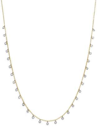 "Meira T 14K Yellow and White Gold Diamond Bezel Dangle Necklace, 15"" $1,495 thestylecure.com"