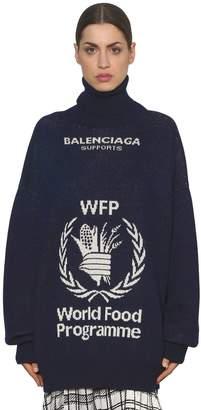Balenciaga World Food Jacquard Wool Sweater