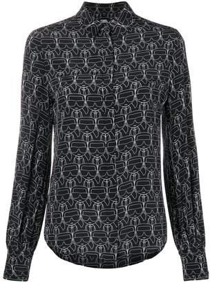Karl Lagerfeld print shirt