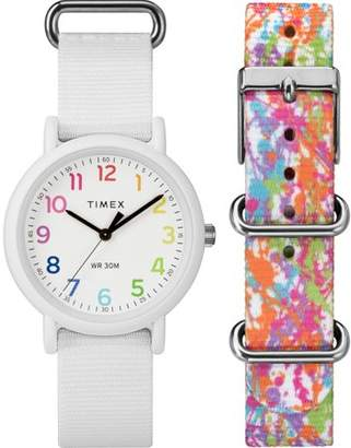 Timex Unisex Weekender Color Rush White/Splash Box Set