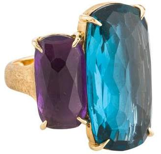 Marco Bicego Amethyst & Topaz Murano Ring