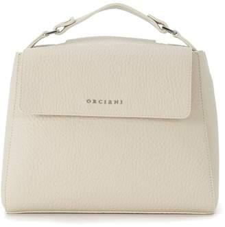 At Italist Orciani Ivory Tumbled Leather Handbag