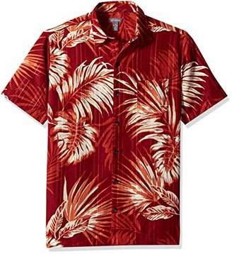 Van Heusen Men's Air Tropical Print Short Sleeve Button Down Shirt