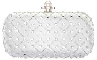 Nina Chandel Crystal Faux Pearl Embellished Minaudiere