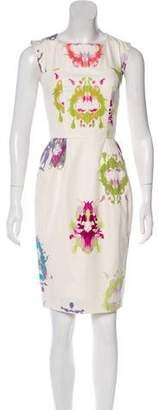 Saint Laurent Sleeveless Abstract Print Dress