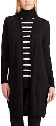Chaps Women's Open Front Long Cardigan