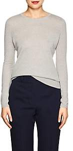 Barneys New York WOMEN'S SILK-CASHMERE CREWNECK SWEATER - GRAY SIZE M