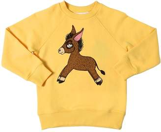 Mini Rodini Donkey Print Organic Cotton Sweatshirt
