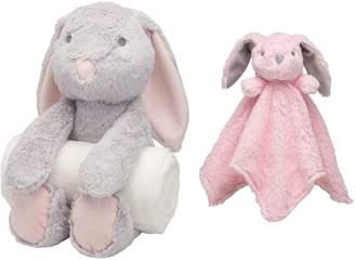 Elegant Baby Bunny Bedtime Huggie Stuffed Animal, Blanket & Security Blanket Set