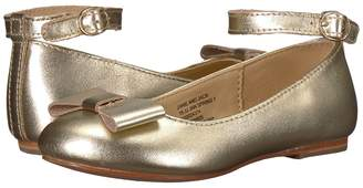 Janie and Jack Metallic Ankle Strap Ballet Flat Girls Shoes