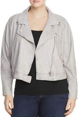 Lysse Plus Belfast Faux Leather Moto Jacket