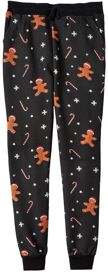 Boys 8-20 Hollywood Jeans Christmas Fleece Jogger Pants