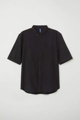 H&M Regular Fit Cotton Shirt - Black