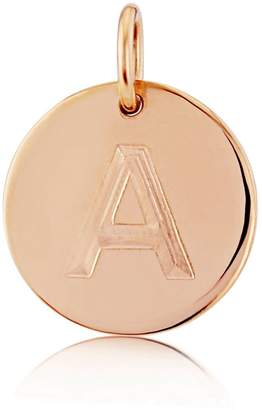 Auree Jewellery - Westbourne 9Ct Rose Gold Initial Disc Pendant