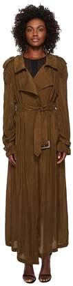McQ Puckered Seam Trench Women's Coat