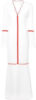 Galvan contrast trim maxi dress