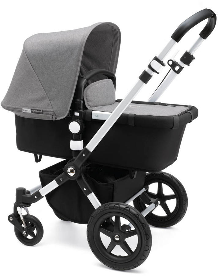 Bugaboo BUGABOO Complete CAMELEON\u00b3 Puchair With Aluminium Frame, Imitation Leather Handfuls & Black Base
