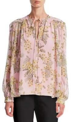 Giambattista Valli Floral Print Silk Blouse