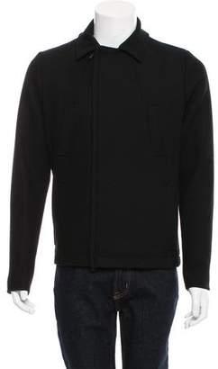 Bottega Veneta Leather-Accented Virgin Wool-Blend Jacket