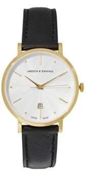 Larsson & Jennings Aurora Black Leather 38MM Watch