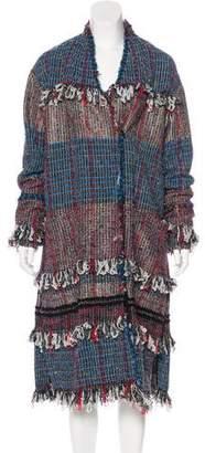 Thakoon Fringe Bouclé Coat
