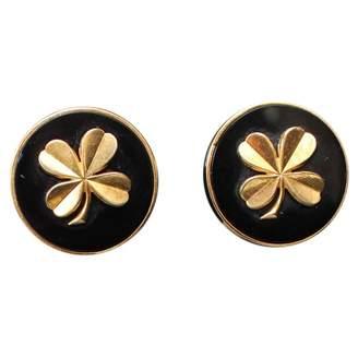Chanel Vintage Black Metal Earrings