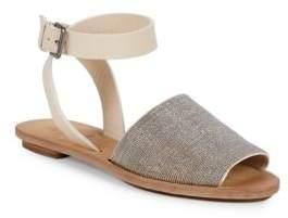 Brunello Cucinelli Embellished Leather Flat Sandals
