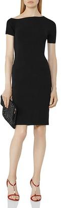 REISS Palmer Asymmetric Knit Dress $295 thestylecure.com