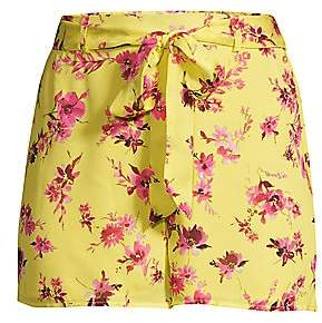 CAMI NYC Women's The Cluda Floral Silk Georgette Shorts