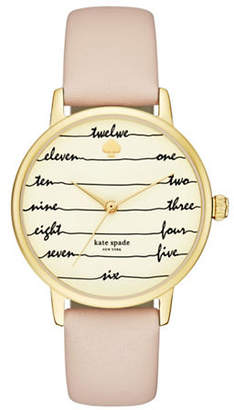 Kate Spade Metro Chalkboard Vachetta Leather Watch