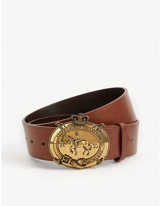 Ralph Lauren Purple Label Logo-plaque leather belt