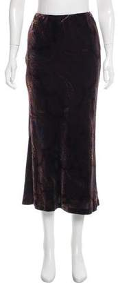 Oscar de la Renta Oscar by Patterned Velvet Skirt