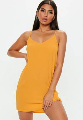 Missguided Mustard Cami Shift Dress
