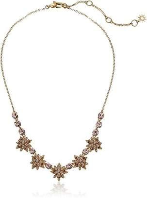 Marchesa stone/Blush/Silk Crystal Star Frontal Necklace