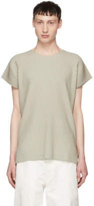 Issey Miyake Homme Plisse Beige Pleated T-Shirt