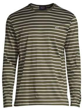 Paul & Shark Cotton Striped Long-Sleeve T-Shirt