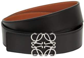 Loewe 40mm Reversible Anagram Leather Belt